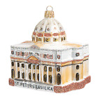 St Peters Basilica Vatican Rome Italy Glass Christmas Ornament Travel 110180