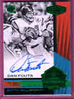 2017 Plates & Patches Dan Fouts On Card Chargers HOF Autograph 3 5