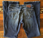 Big Star Vintage Flare Distressed Dark Wash Jeans Size 29x33 1 2 Made USA