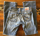 Big Star Casey Vintage Denim Boot Cut Ultra Low Rise Size 25x27 1 2
