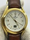 JUNGHANS MEGA RADIO CONTROLLED QUARTZ GOLD PLATED MENS 40.5mm  MADE IN GERMANY