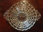 Vintage Indiana Glass Mayflower Pattern Clear Bowl with Handles