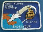 STS 49 First flight Space Shuttle Endeavour Embroidered Space Patch NASA