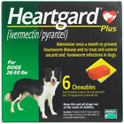 Heart gard Plus 6 Chewable Tablets for Dogs up to 26 51 lbs exp 03 2020