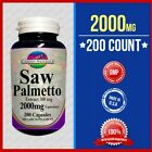 Saw Palmetto 1000mg +1000 =2000 Prostate Health - 200 Caps Fresh GLUTEN FREE USA