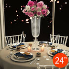 Silver Wedding Centerpieces Vases Crystal Metal Table Flower Decorations Decor