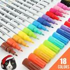 18 Bright Colors 07mm Fine Tip Water Based Permanent Acrylic Paint Markers Set