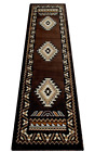 South West Native American Runner Area Rug Design Kingdom 143 Chocolate 2 Feet X