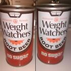 Vintage WEIGHT WATCHERS Root Beer can 12oz pull tab steel straight top opened