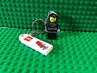 Lego Movie BAD COP Badcop Police Policeman Minifigure Keychain two face
