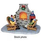 Lemax Village Collection Outdoor Fireplace Battery Operated # 44753 New In Pkg.