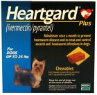 Heart gard Plus 6 Chewable Tablets for Dogs up to 25 lbs exp 10 2020