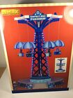 LEMAX SNOWFLAKE PARADROP CARNIVAL RIDE VILLAGE SCENE Animated Sounds Light - NEW
