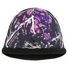 Muddy Girl Camo Beanie Hat, Pink Purple Camouflage Ladies Toboggan Moonshine