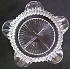 Vintage Anchor Hocking Clear Glass Fire King Queen Anne Series Star Ashtray
