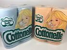 Vintage 1977 Cottonelle Peach And Blue Colored Toilet Paper NOS 2 Packs Of 4