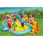 Kiddie Pool Inflatable Backyard Water Park Diy Splash Pad Water Slide Dinosaur