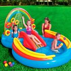 Kiddie Pool Inflatable Play Center Backyard Water Kit with Slide Sprayer Game