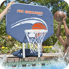 Pool Basketball Hoop Water Game Sits Poolside Fun All Weather Blue Backboard