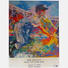 LEROY NEIMAN SIGNED 12x16 PHIL RIZZUTO HALL OF FAME 1994 LITHOGRAPH PRINT w JSA