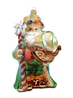 Ocean Santa Claus with Ship Shells Traditional Glass Christmas Ornament 350006