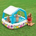 Inflatable Shaded Kiddie Pool Sun Shade Toddler Swimming Hole Wading Water Bath