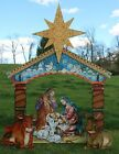 G DeBrekht Studios Large Wooden Outdoor Lawn Nativity Scene Christmas Decor