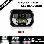 5X7/7X6'' LED Projector Headlight Hi/Lo Beam For Jeep Wrangler Cherokee XJ YJ US