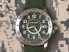 Wenger 01.1342.103 Military Green Dial Green + Silicone Band GMT Watch