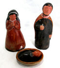 3 Piece Nativity Set Pagsa Mexico 675tall Joseph 6Mary 35long Jesus Pottery