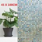 3D Static Cling Mosaic Colorful Stained Glass Window Door Glass Film Decor Hot