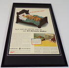 1942 General Electric Blanket Framed 11x17 ORIGINAL Vintage Advertising Poster