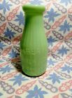 Jadeite Green Glass 1 Pint Lady Liberty Milk Bottle in Excellent