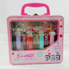 Sanrio Hello Kitty & My Melody Collectible Pez Dispensers Metal Lunch Box Sealed