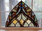 ANTIQUE STAINED GLASS ARCH WINDOW NYC AREA CHURCH 1920s