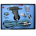 Modern Dual Action Airbrush Kit Gravity Feed for Air Compressor Craft Paint Art
