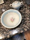 Vintage Homer Laughlin Eggshell Georgian Serving Bowl And Sugar Bowl With Lid
