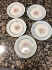 Vintage Homer Laughlin Eggshell Georgian Chateau Blue Bread Dessert Plates (5)