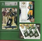 AARON RODGERS BGS MINT 9 GRADED ROOKIE CARD GAME USED JERSEY 3 THREAT PACKERS