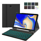 For Samsung Galaxy Tab S4 105 2018 Case Cover with Backlit Bluetooth Keyboard