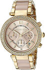 Michael Kors MK6326 Rose Gold Dial Two Tone Chronograph Women's Watch