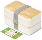 BentoHeaven Leakproof Bento Box with Fun Lunch Notes Cutlery Chopsticks