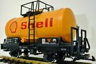 LGB 4040S with Metal Wheels SHELL Oil Tanker Freight Car in C 9 Condition