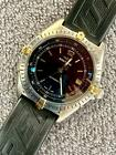 ~ Breitling ~Anteras  6076 BLACK DIAL!! automatic! breitling rubber band+ buckle