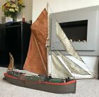 BOW BELLE RC RADIO CONTROLLED THAMES BARGE SAILING MODEL Model 34.5 Inches Long