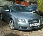 LARGER PHOTOS: AUDI A3 2.0T AUTO PETROL PADDLE SHIFT, S line, Silver/Grey 18' Alloy Wheels