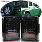 For 07 17 Jeep Wrangler JK LED Tail Lights Brake Reverse Rear Turn Signal Lamp