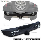 Fits 07 17 Jeep Wrangler YJ TJ Textured Rear Bumper w LED Lights