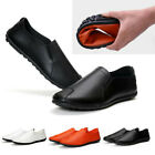 US Mens Shoes Leather Business Loafers Driving Moccasins Casual Slip On Boat
