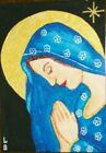 ACEO ORIGINAL ART OUR LADY OF SOLEMNITY BY ME THE ARTIST LB